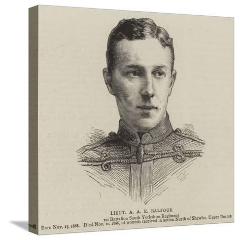 Lieutenant a A R Balfour--Stretched Canvas Print
