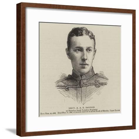 Lieutenant a A R Balfour--Framed Art Print