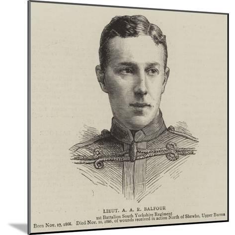 Lieutenant a A R Balfour--Mounted Giclee Print
