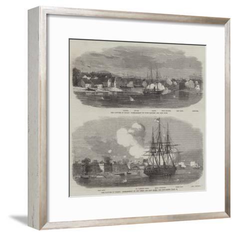 The Capture of Ningpo--Framed Art Print