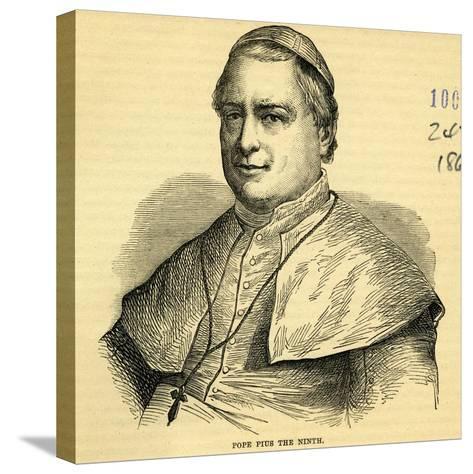 Pope Pius IX--Stretched Canvas Print
