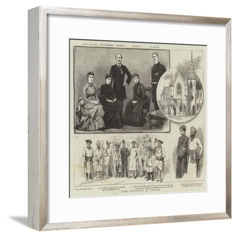 Lord Dufferin at Indore--Framed Art Print