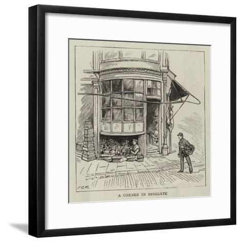 A Corner in Briggate--Framed Art Print