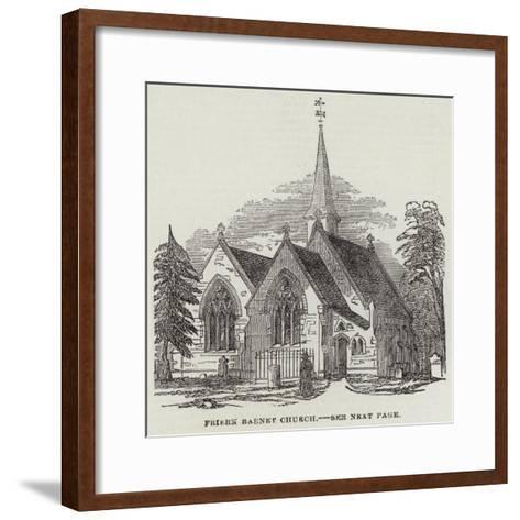 Friern Barnet Church--Framed Art Print