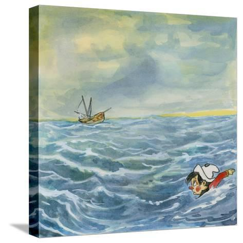 Pinocchio--Stretched Canvas Print
