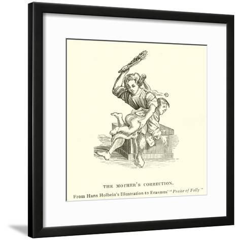 The Mother's Correction--Framed Art Print