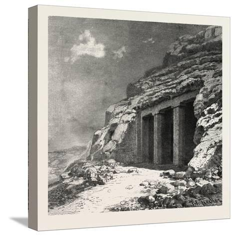 Entrance of the Tomb at Beni Hasan, Egypt, 1879--Stretched Canvas Print