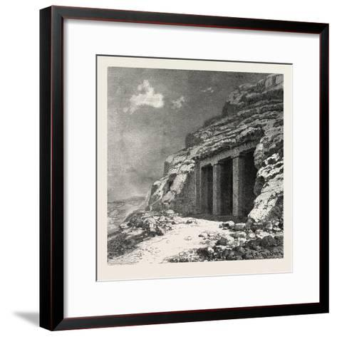 Entrance of the Tomb at Beni Hasan, Egypt, 1879--Framed Art Print