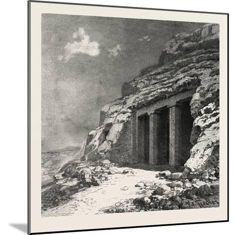 Entrance of the Tomb at Beni Hasan, Egypt, 1879--Mounted Giclee Print