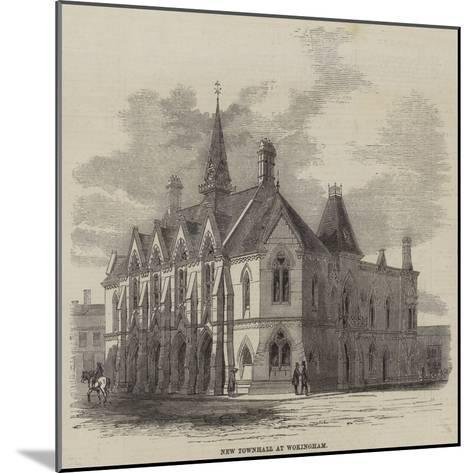 New Townhall at Wokingham--Mounted Giclee Print