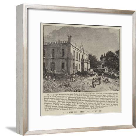 A Zambesi Mission Station--Framed Art Print