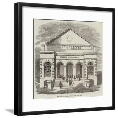 The Corn-Exchange, Boston--Framed Art Print