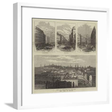 The Fire at Boston--Framed Art Print