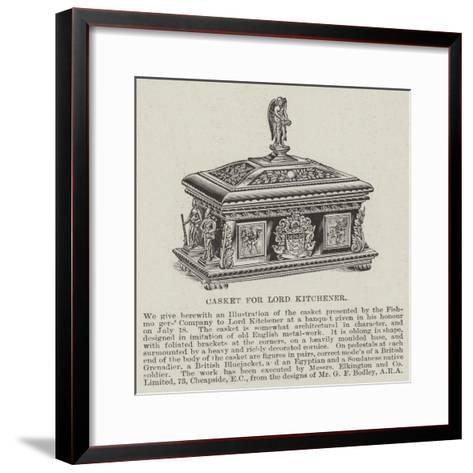 Casket for Lord Kitchener--Framed Art Print