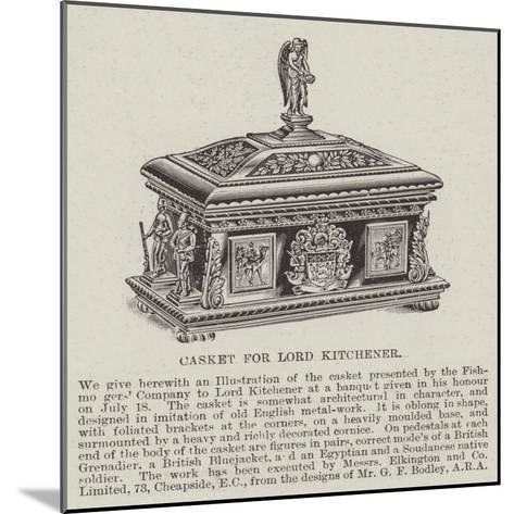 Casket for Lord Kitchener--Mounted Giclee Print