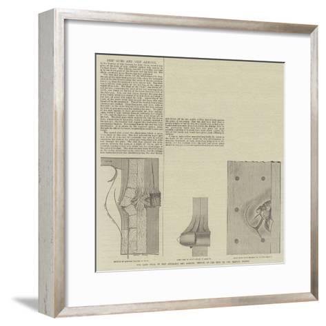 Ship Guns and Ship Armour--Framed Art Print
