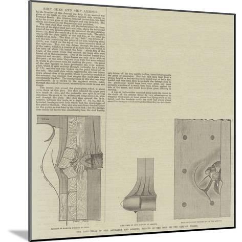 Ship Guns and Ship Armour--Mounted Giclee Print