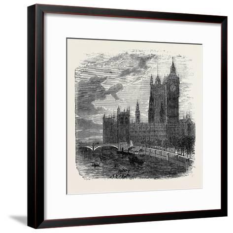 Views on the Embankment, Westminster, London, 1870, UK--Framed Art Print