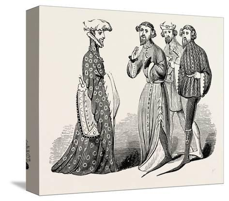 Costume of the Time of Richard II, Sleeves and Shoes--Stretched Canvas Print