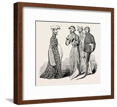 Costume of the Time of Richard II, Sleeves and Shoes--Framed Art Print