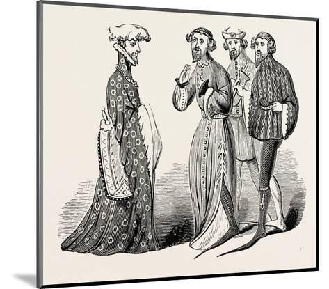 Costume of the Time of Richard II, Sleeves and Shoes--Mounted Giclee Print