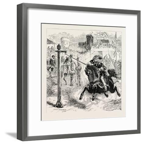 Chivalric Games Tilting at the Ring--Framed Art Print