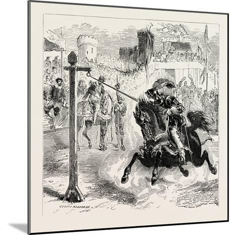 Chivalric Games Tilting at the Ring--Mounted Giclee Print