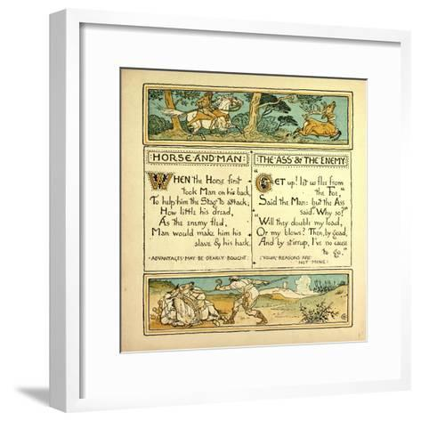 Horse and Man the Ass and the Enemy--Framed Art Print