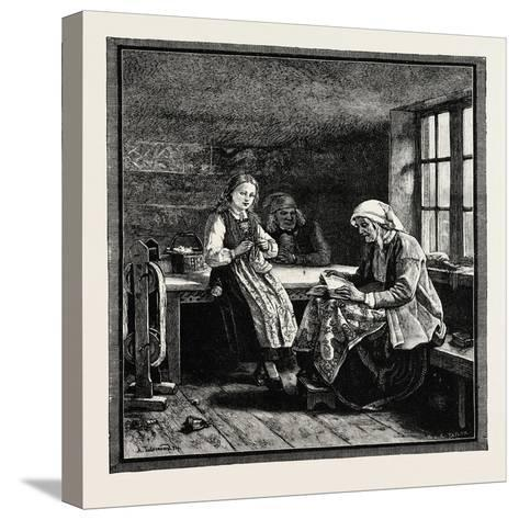 Interior of a Norwegian House--Stretched Canvas Print