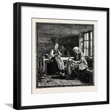 Interior of a Norwegian House--Framed Art Print