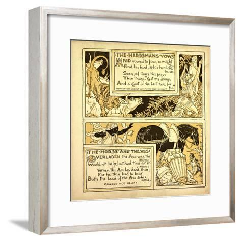 The Herdsman's Vows the Horse and the Ass--Framed Art Print
