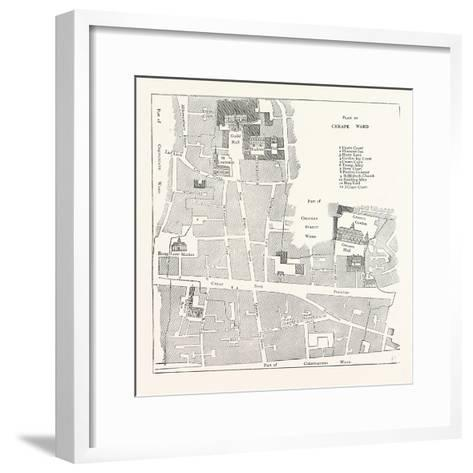 Old Map of the Ward of Cheap About 1750 London--Framed Art Print