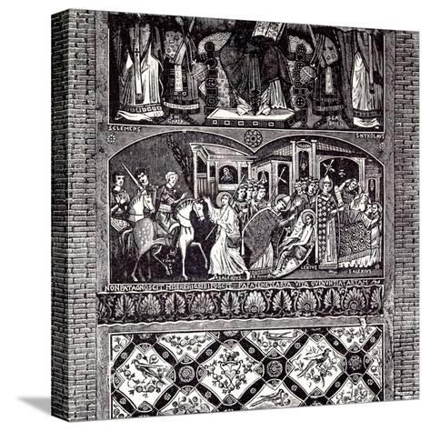 Rome Italy 1875 Legend of St. Alexius: Fresco of the Tenth Century--Stretched Canvas Print