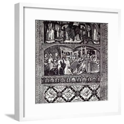 Rome Italy 1875 Legend of St. Alexius: Fresco of the Tenth Century--Framed Art Print