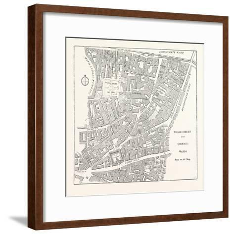 Broad Street and Cornhill Wards from a Map of 1750, London--Framed Art Print