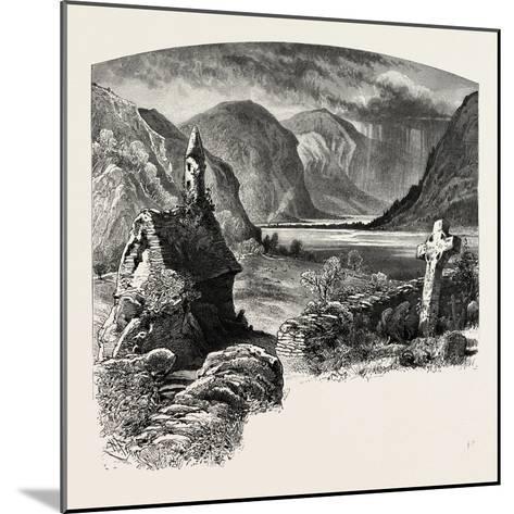 Glendalough, Ireland, 19th Century--Mounted Giclee Print