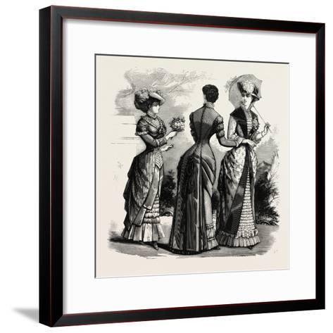 Summer Costumes, 1882, Fashion--Framed Art Print