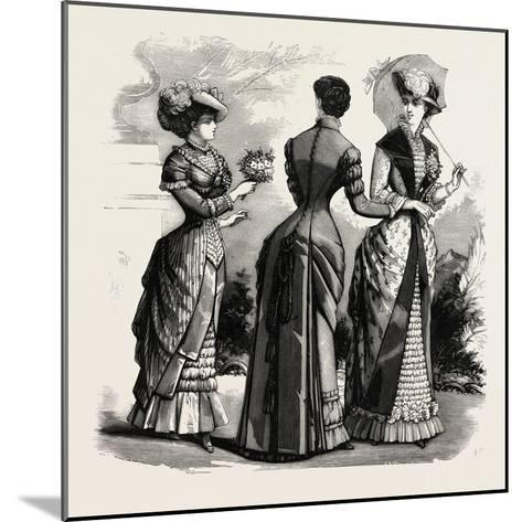 Summer Costumes, 1882, Fashion--Mounted Giclee Print