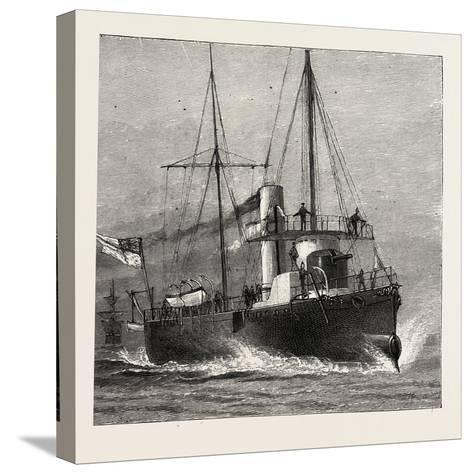Torpedo Gun Boat, Full Speed-2O Knots an Hour, 1888--Stretched Canvas Print