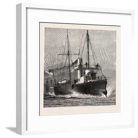 Torpedo Gun Boat, Full Speed-2O Knots an Hour, 1888--Framed Art Print