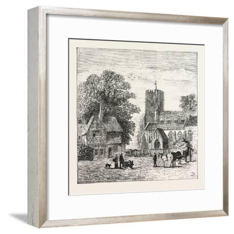 The North of London, Church End, Finchley, 1876, UK--Framed Art Print
