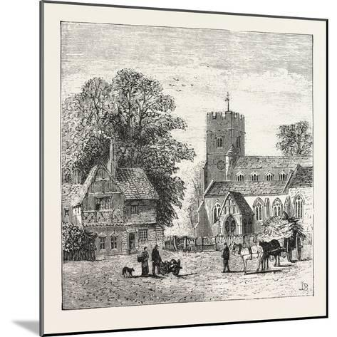 The North of London, Church End, Finchley, 1876, UK--Mounted Giclee Print