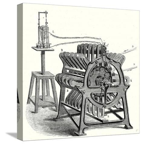 Magneto-Electric Machine from the Alliance Company--Stretched Canvas Print