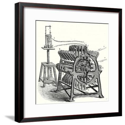 Magneto-Electric Machine from the Alliance Company--Framed Art Print