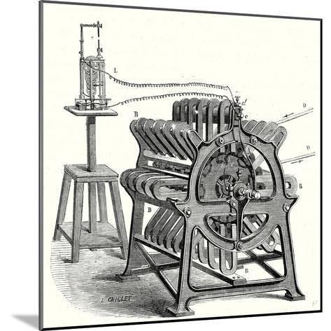 Magneto-Electric Machine from the Alliance Company--Mounted Giclee Print
