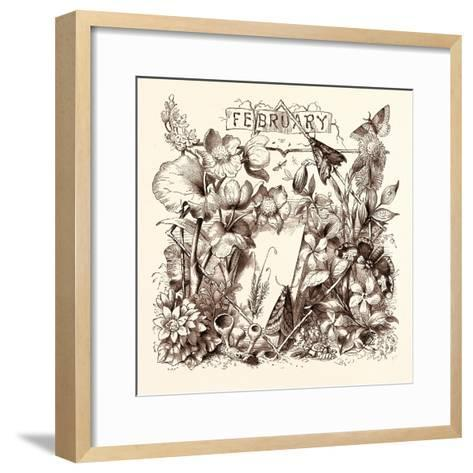 February, Calendar, Year, Month, Monthly--Framed Art Print