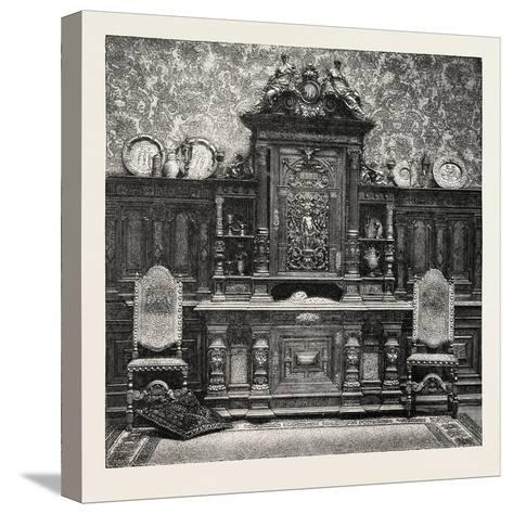 Carved Sideboard for a Dining Room, 1882--Stretched Canvas Print