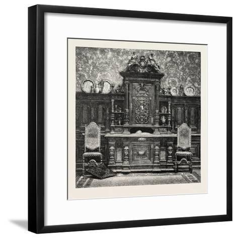 Carved Sideboard for a Dining Room, 1882--Framed Art Print