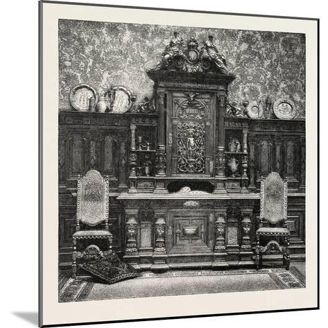 Carved Sideboard for a Dining Room, 1882--Mounted Giclee Print
