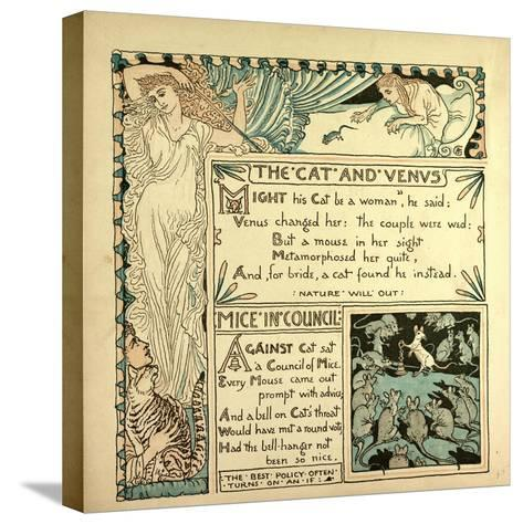 The Cat and Venus Mice in Council--Stretched Canvas Print